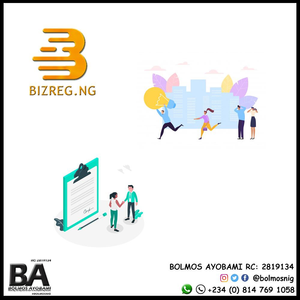 BizReg Logo and Website Content Design