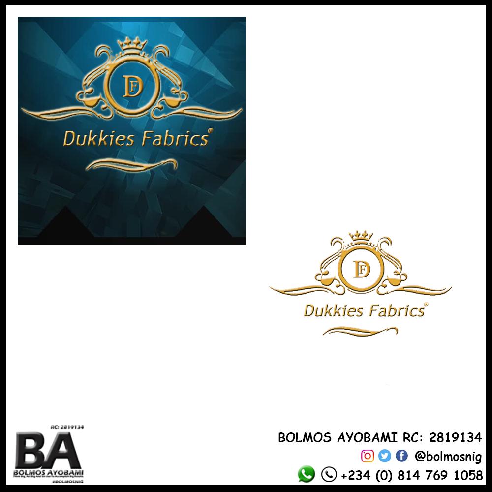 Dukkies Fabrics Logo Design