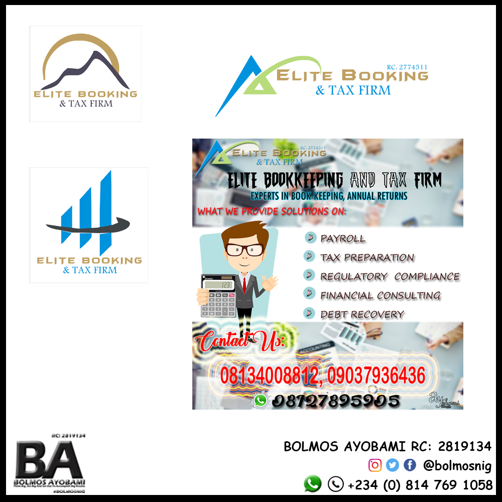 Elite Booking & Tax Firm Logo and Ads Design