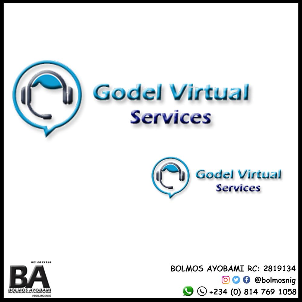 Godrl Virtual Services Logo Design