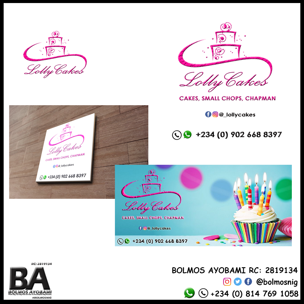 Lolly Cakes Logo and Ads Design