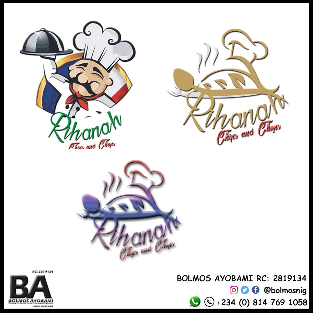 Rihanah Chips Logo Design