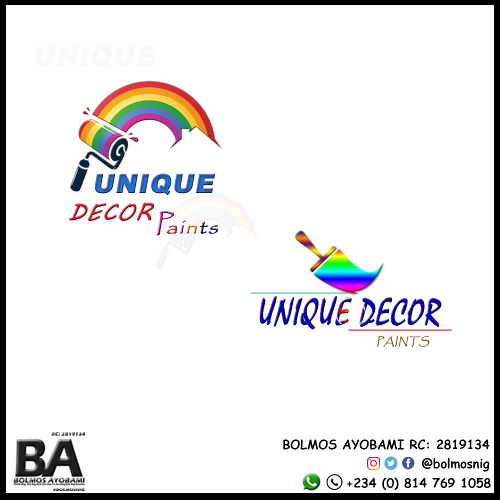 Unique Decor Paints Logo Design