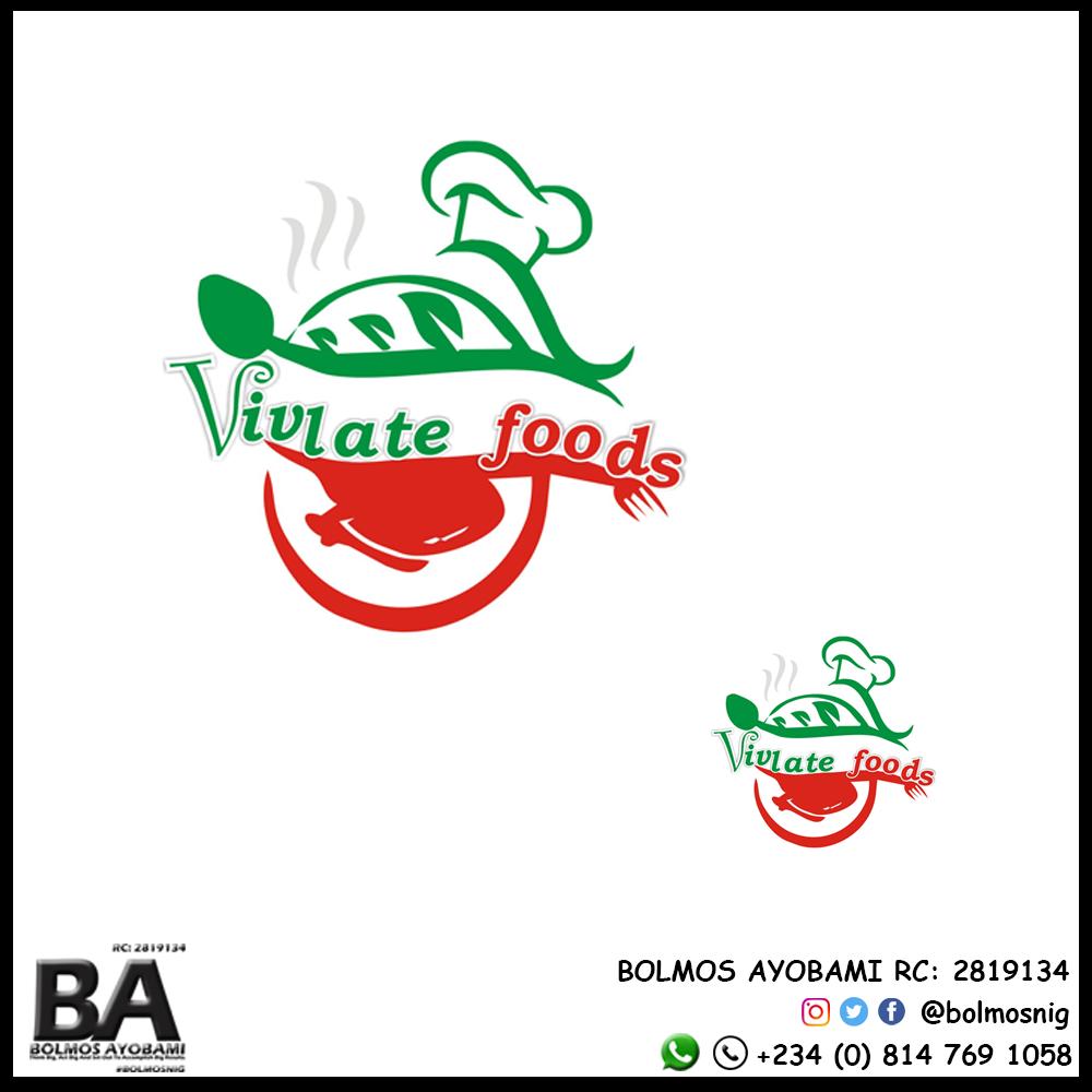Vivlate Foods Logo Design